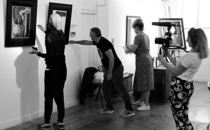 Hannah Currie filming