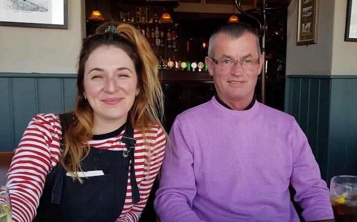 Hannah Currie and Paul